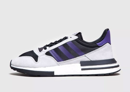 The adidas ZX500 RM Releases In Black And Purple