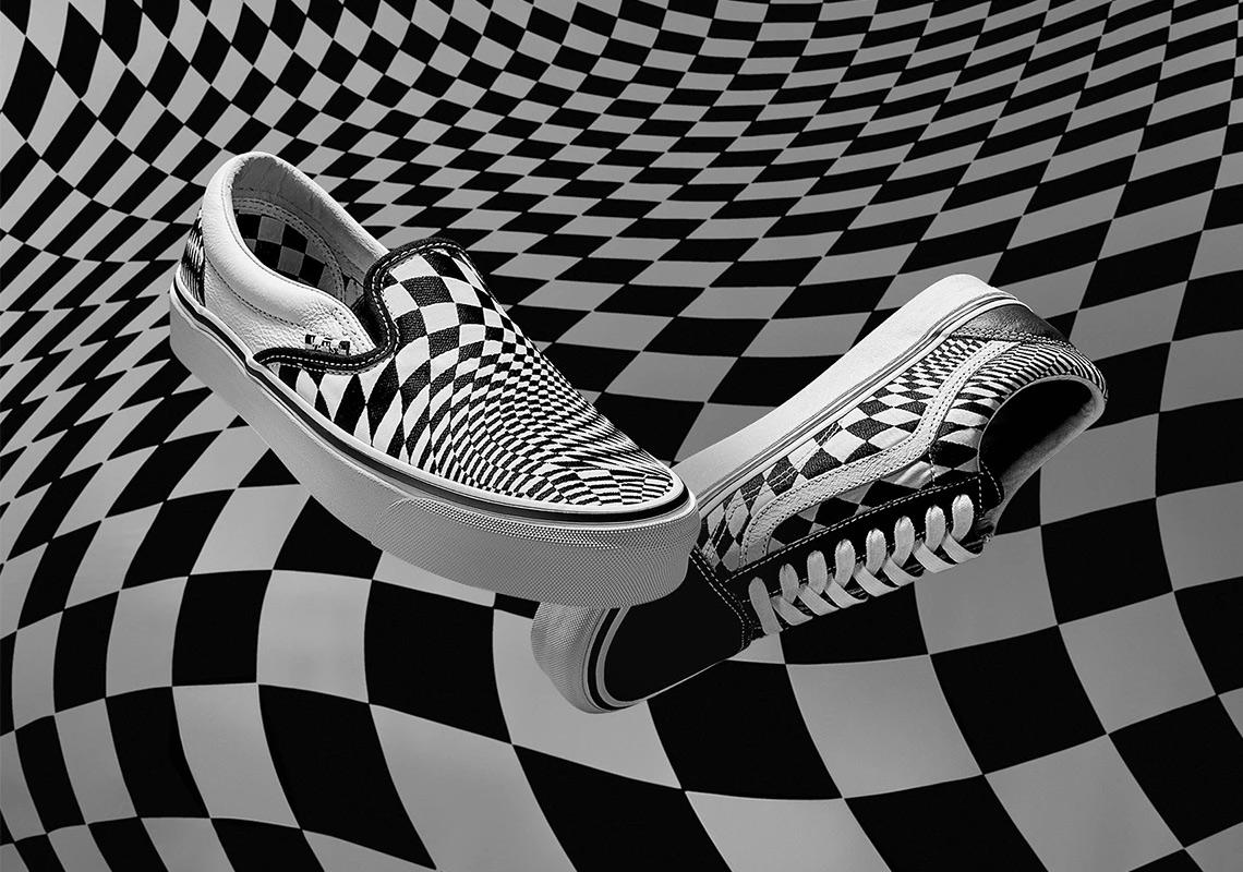 """77aae34ddb7 END And Vans Create A """"Vertigo"""" Checkerboard Print"""