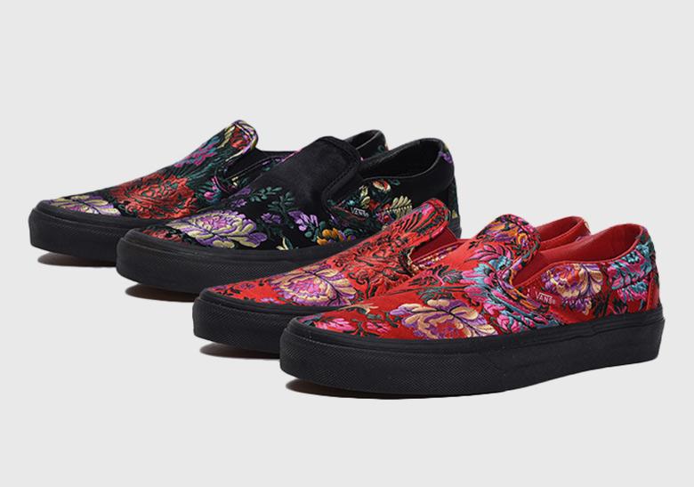 bb249f4118cde0 Vans Slip On Festival Satin Red   Black - Release Info
