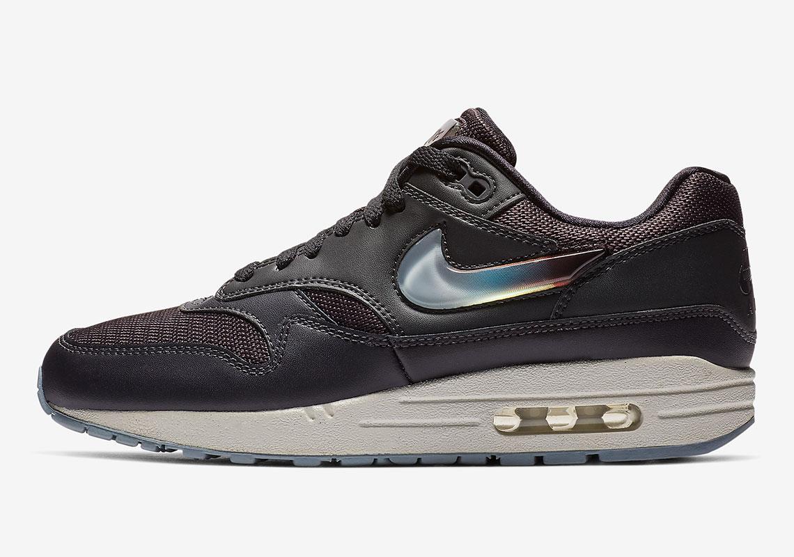 ab6cd031b495f8 Nike Air Max 1 Jewel Swoosh AT5248-001 AT5248-500 AT5248-100 Release ...
