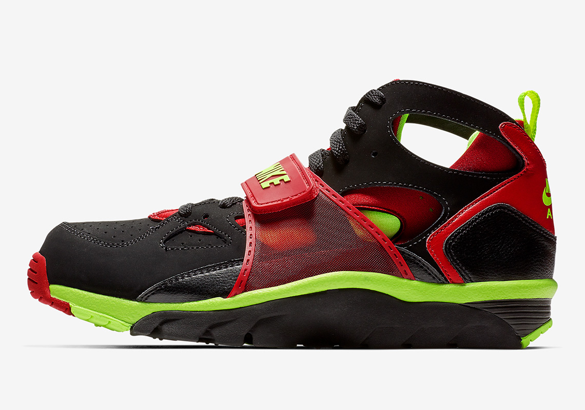 low priced b306a 120eb The Nike Trainer Huarache Arrives In Black, Volt, And Red