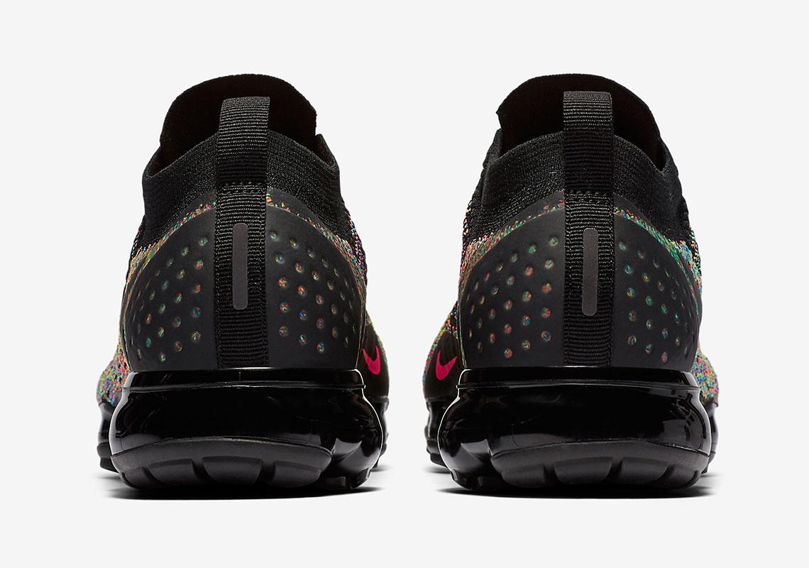 a7f26d4dcf6b7 Nike Vapormax Flyknit 2  190. Color  Black Multi-Color Design Code   942842-017