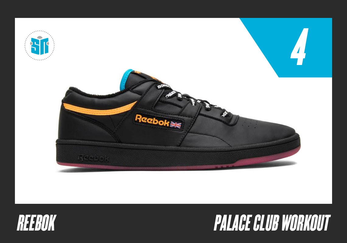 ee8e9143d502 Palace x Reebok Club Workout This London-based skate street stalwart lent  their signature aesthetic to three simple yet colorful takes on this hybrid  of the ...