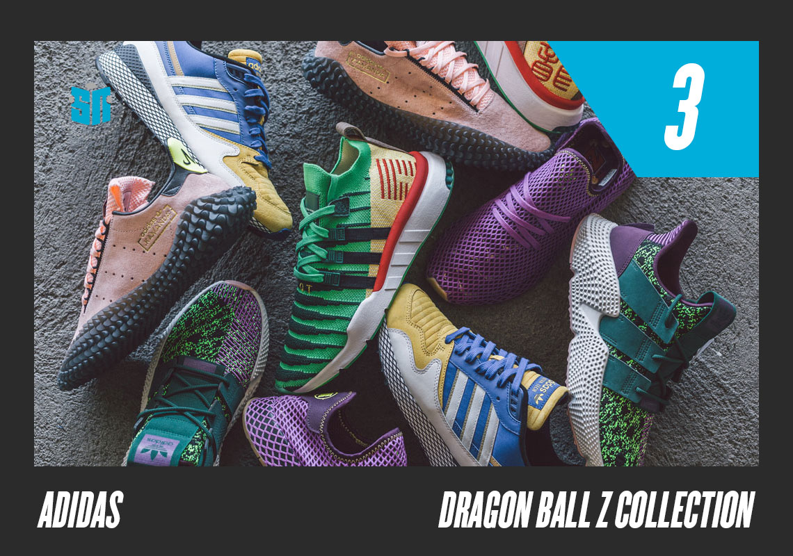 62dd13b6055 3. adidas Dragon Ball Z Collection Few collaborative sneaker releases this  year intrigued sneakerheads more than the eight-piece Dragon Ball Z set.