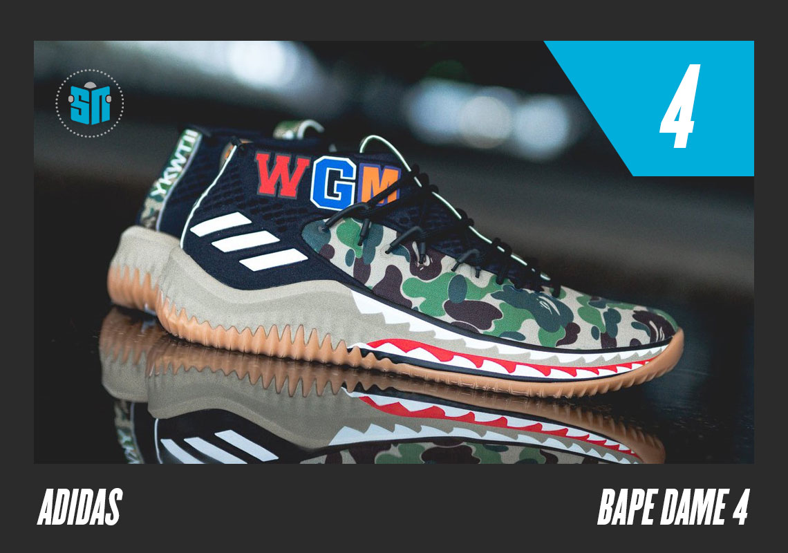 627f4790dcf BAPE x adidas Dame 4 Meant to help further blur the lines between  basketball performance and streetwear