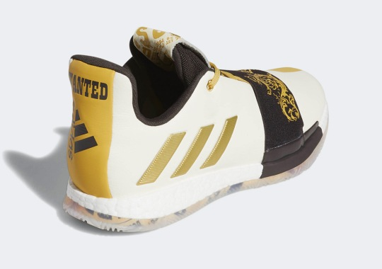 "best service c9269 486a3 The adidas Harden Vol. 3 ""Wanted"" Calls Out James Harden s Stepback Move"