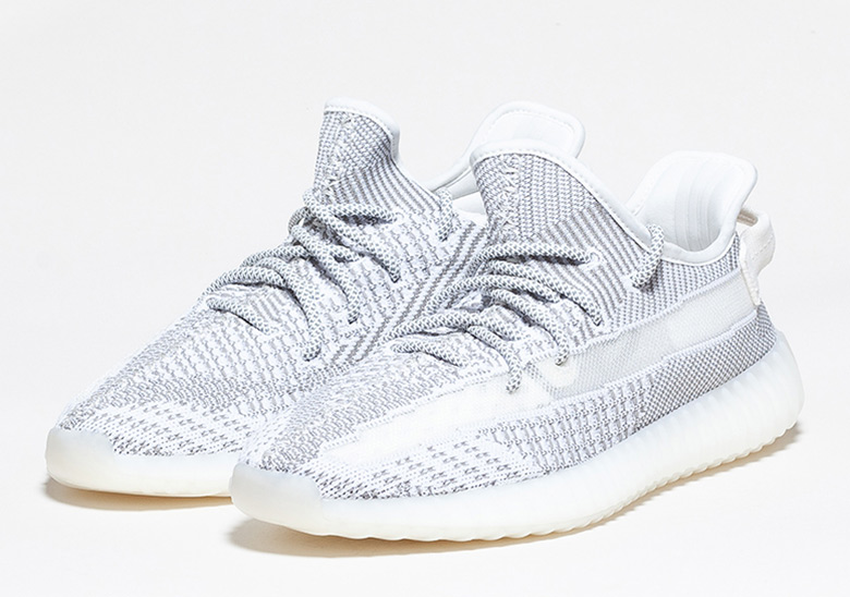 adidas YEEZY BOOST 350 V2 STATIC EF2905 Adidas easy boost 350 V2 static low frequency cut sneakers gray X white size US10(28cm) present gift