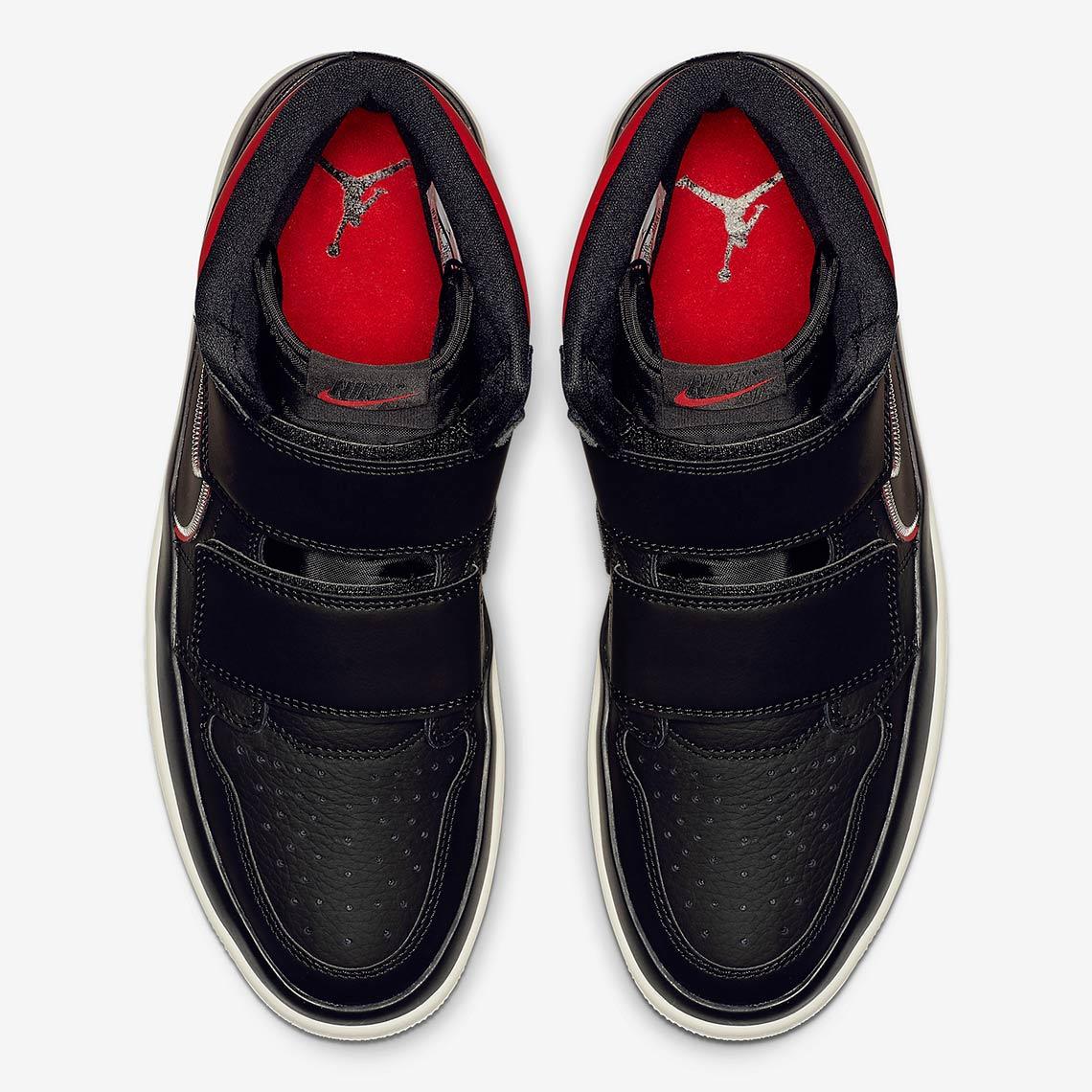 820bfc5ca59cd7 Jordan 1 High Double Strap Black Red AQ7924-106
