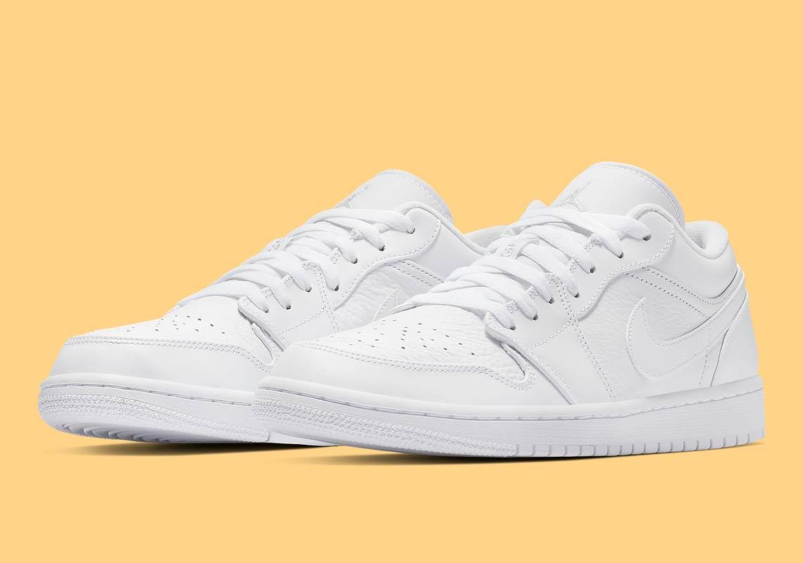 52b42b78abf Air Jordan 1 Low  105. Color  White Pure Platinum