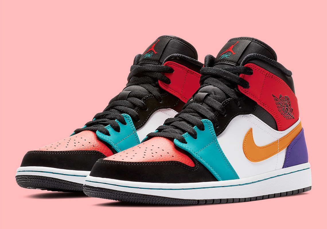 "buy popular a6c0f 938db First Look At The Air Jordan 1 Mid ""Multi-Color"""