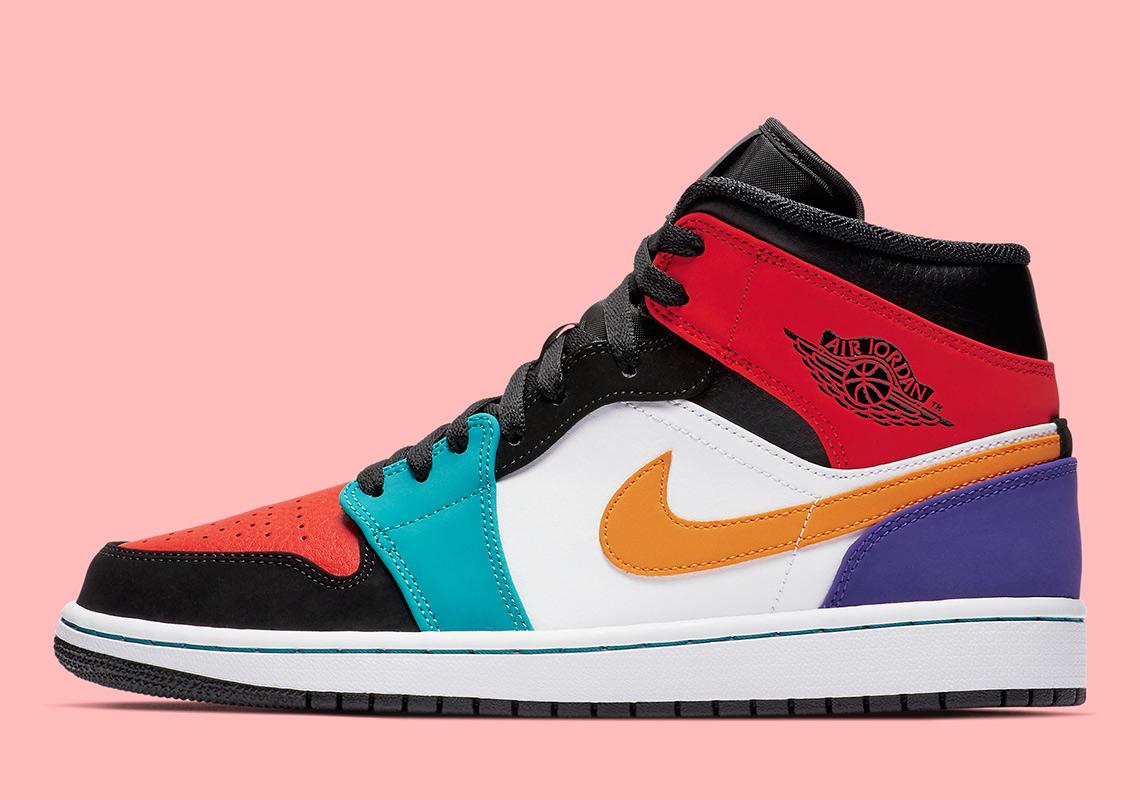 buy online a9321 80135 Air Jordan 1 Mid Multi-Color 554724-125 | SneakerNews.com