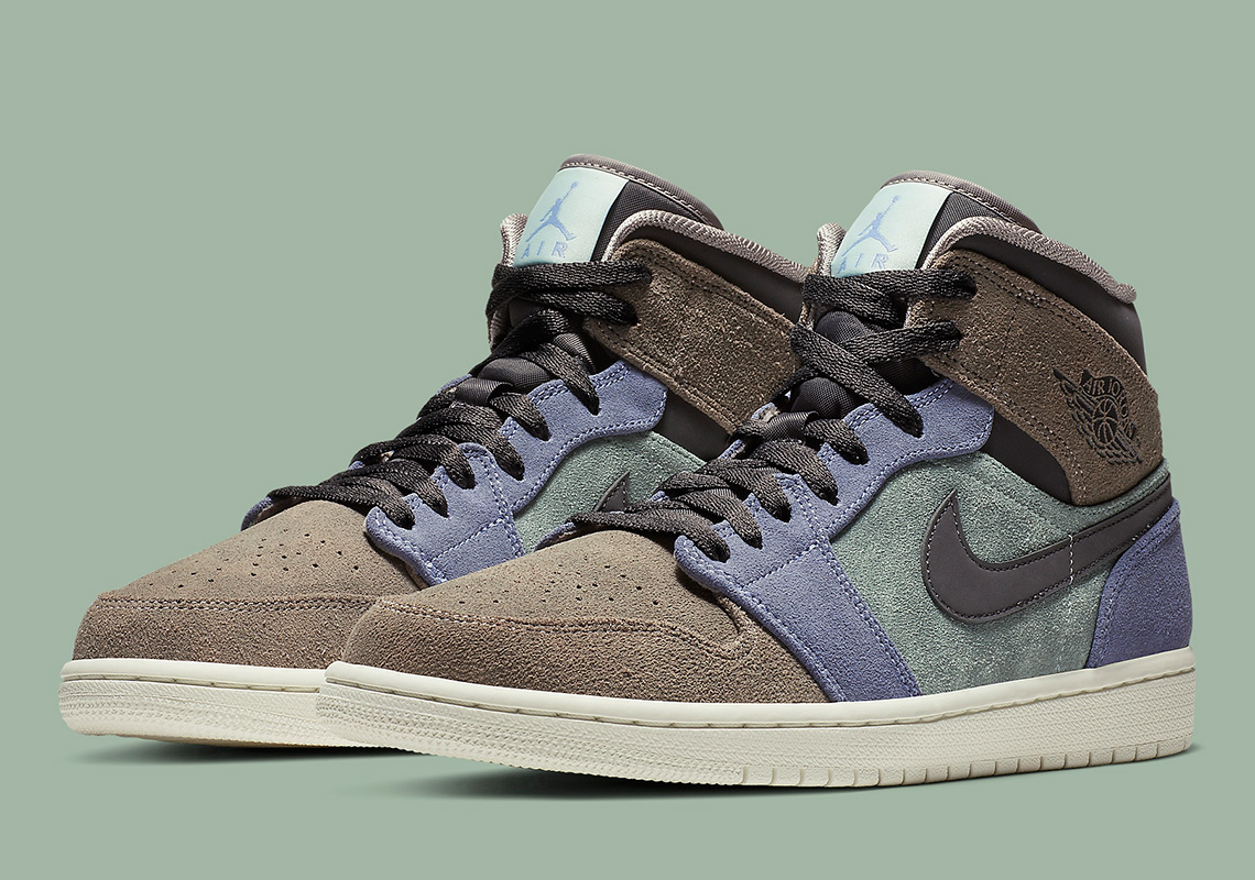 newest 7a793 78b6d Suede Uppers Give This Air Jordan 1 Mid The Aleali May Vibes