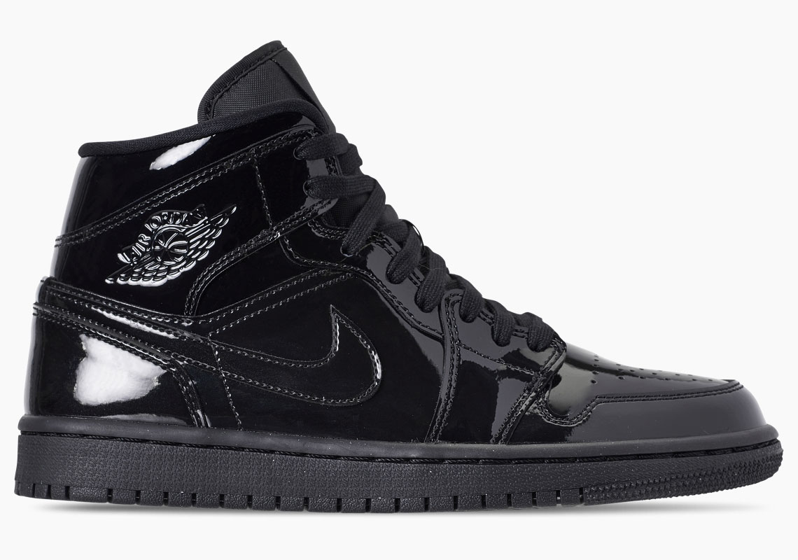 ee2d829a9676 Air Jordan 1 Releases In Triple Black Patent Leather