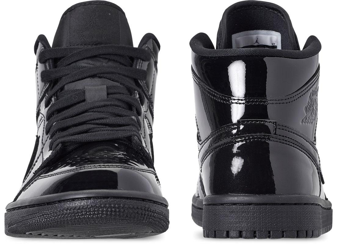 Air Jordan 1 Mid Black Patent Leather