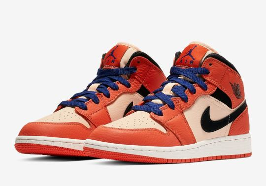 Air Jordan 1 Mid For Girls Appears In Team Orange