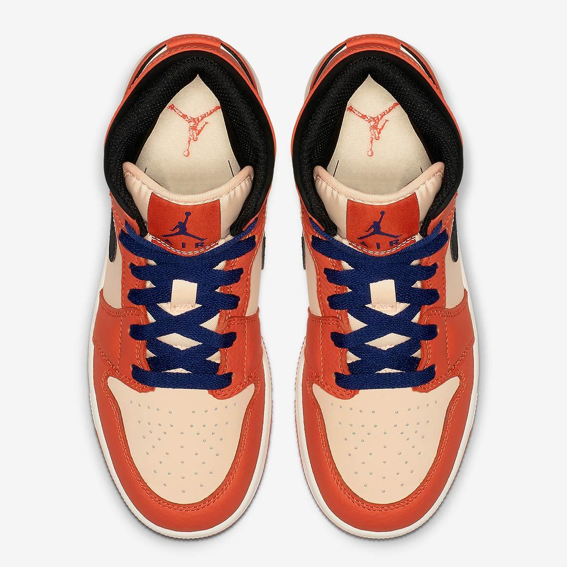 wholesale dealer f2eca 195e7 Jordan 1 Mid Girls Orange BQ6931-800 Release Date   SneakerNews.com