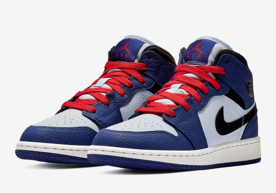 The Air Jordan 1 Mid For Grade School Sizes Is Here In Alternate Spider-Verse Colors