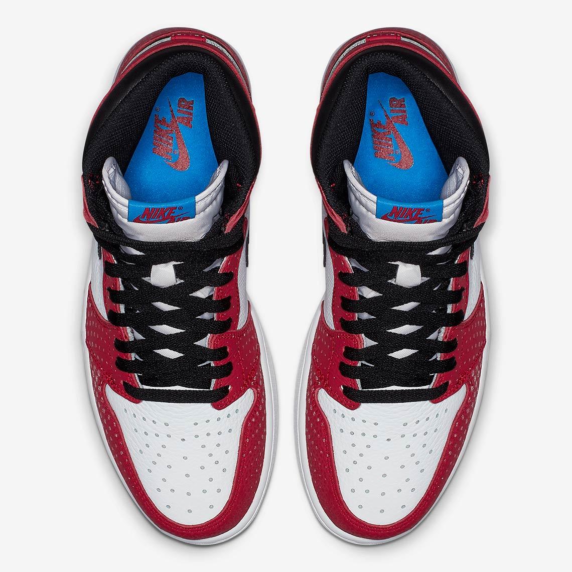 f0fb352e6a9041 Jordan 1 Spider-Man 575441-602 Release Date + Info