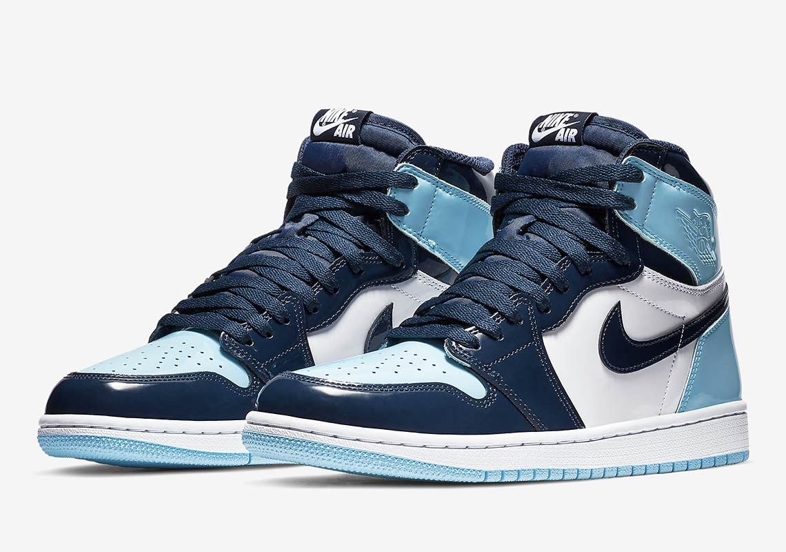 "uk availability 5ffba 0e694 Air Jordan 1 Retro High OG ""UNC Patent"" More Info  Air Jordan 1 UNC Release  Date  February 2nd, 2018 (EU) Release Date  February 14th, 2018 (US)  160.  Style ..."