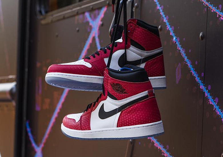 Air Jordan 1 Spider Man 555088 602 Release Info Sneakernews Com