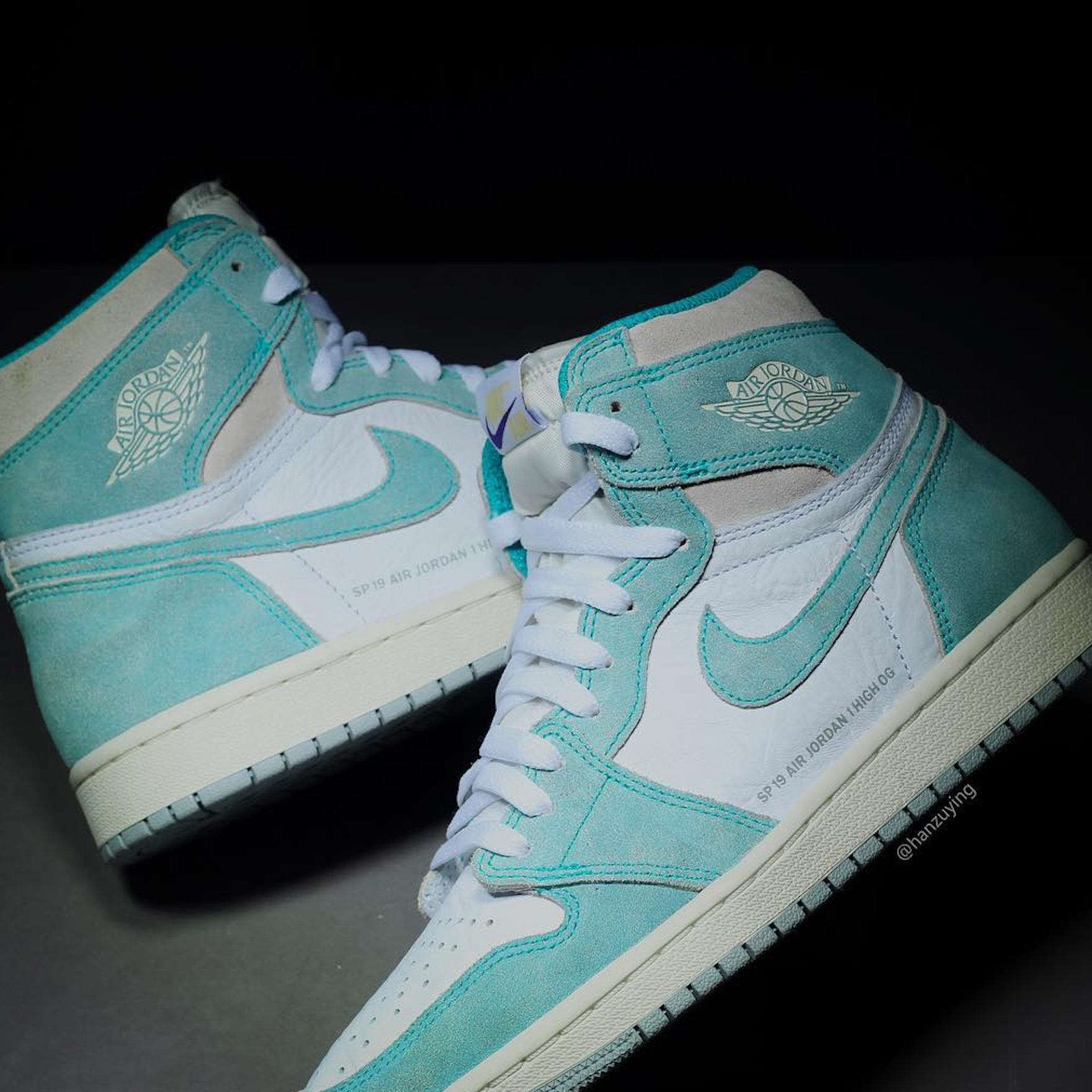 c05d8166516 Air Jordan 1 Retro High OG Release Date  February 15 2019  160. Color   Turbo Green White Light Smoke Grey Sail
