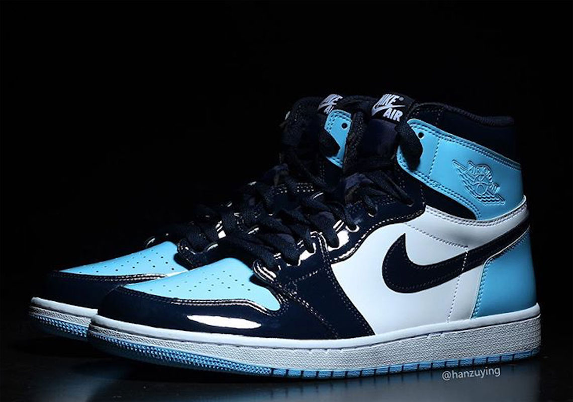 hot sale online 167dd 5a8f3 Air Jordan 1 UNC Patent Leather CD0461-401 Release Info ...