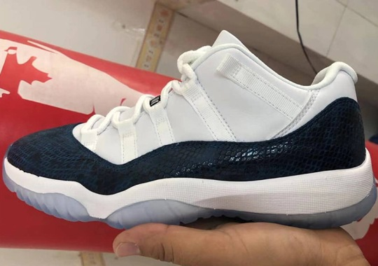 "282c04eb7ae09e First Look At The Air Jordan 11 Low ""Navy Snakeskin"""