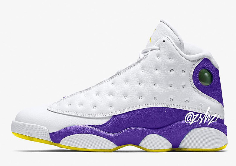 "a620235a07a Advertisement. Air Jordan 13 ""Lakers"" Release Date: ..."