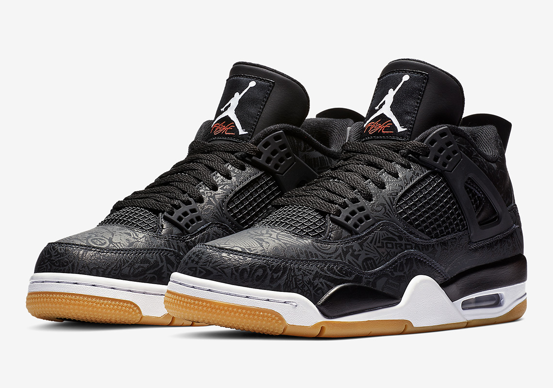 "sale retailer 088a5 aa87f Official Images Of The Air Jordan 4 ""Black Laser"""