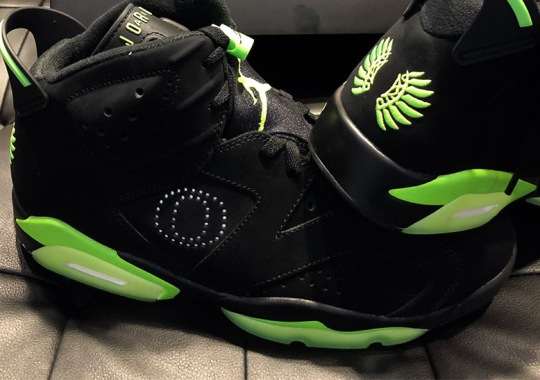 "Oregon Ducks Reveal New Air Jordan 6 PE With Reflective ""O"""