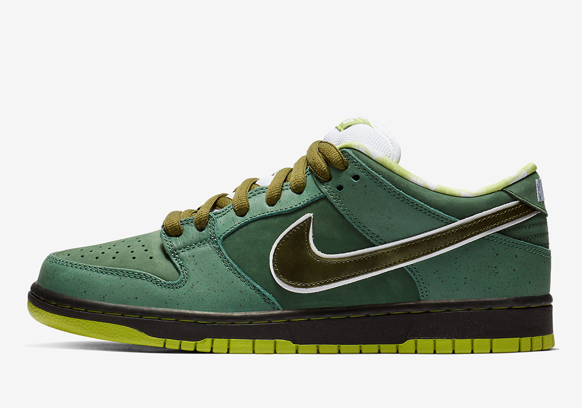 "9c64554556bd02 Concepts Reveals The Nike SB Dunk ""Green Lobster"" Through SNKRS Cam"