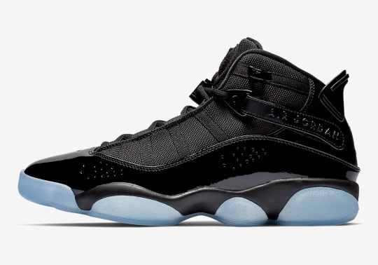 The Jordan 6 Rings Appears In A Crisp Black And Ice