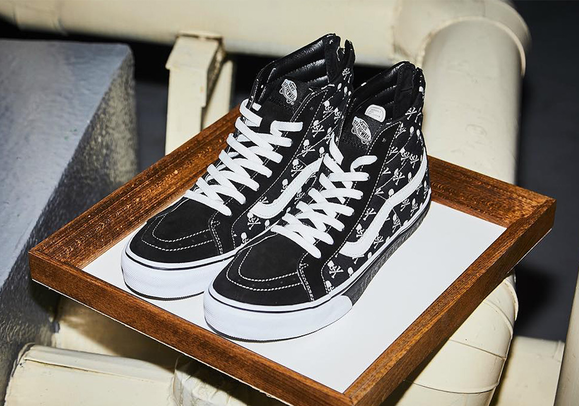 94e19156f799 Mastermind Japan And Vans To Release A Sk8-Hi With Skull And Crossbones  Logos