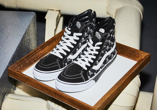 Mastermind Japan And Vans To Release A Sk8-Hi With Skull And Crossbones Logos
