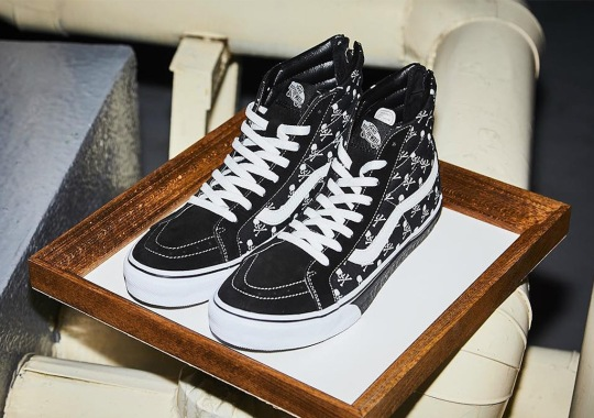 Mastermind Japan And Vans To Release A Sk8-Hi With Skull And Crossbones  Logos d984175c4