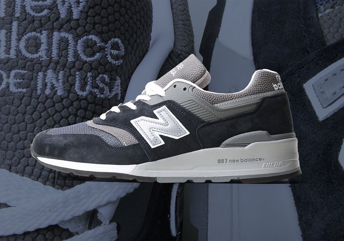 brand new fe4f5 ba485 New Balance 997 Navy + Grey M997NV Buying Guide ...
