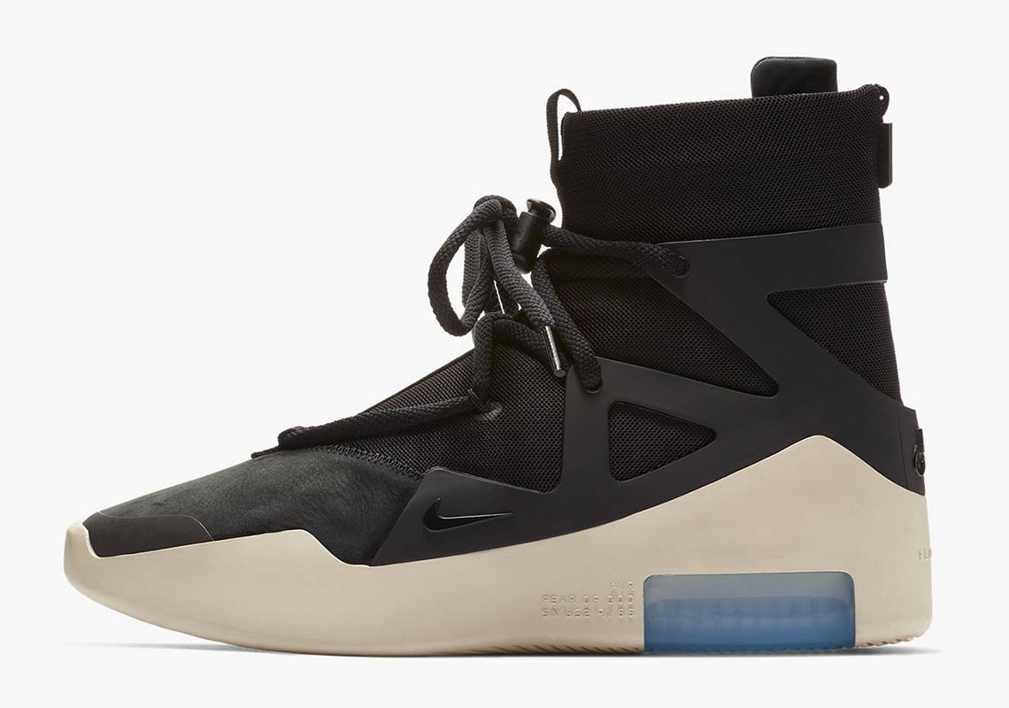2acdac0dae2 Nike Air Fear Of God 1. Release Date: December 15th, 2018 / Rerelease:  January 19th, 2019 $350. Color: Black/Black