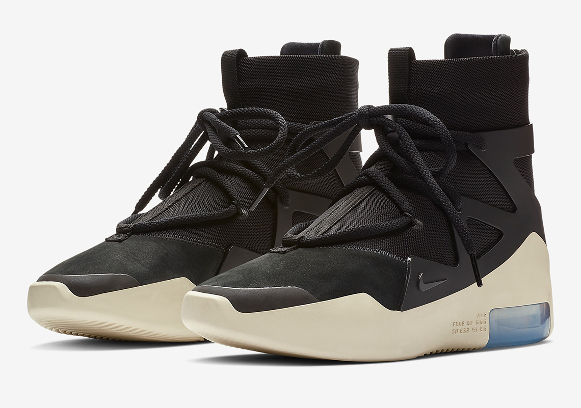 e9d81896e48 Official Images Of The Nike Air Fear Of God 1 In Black