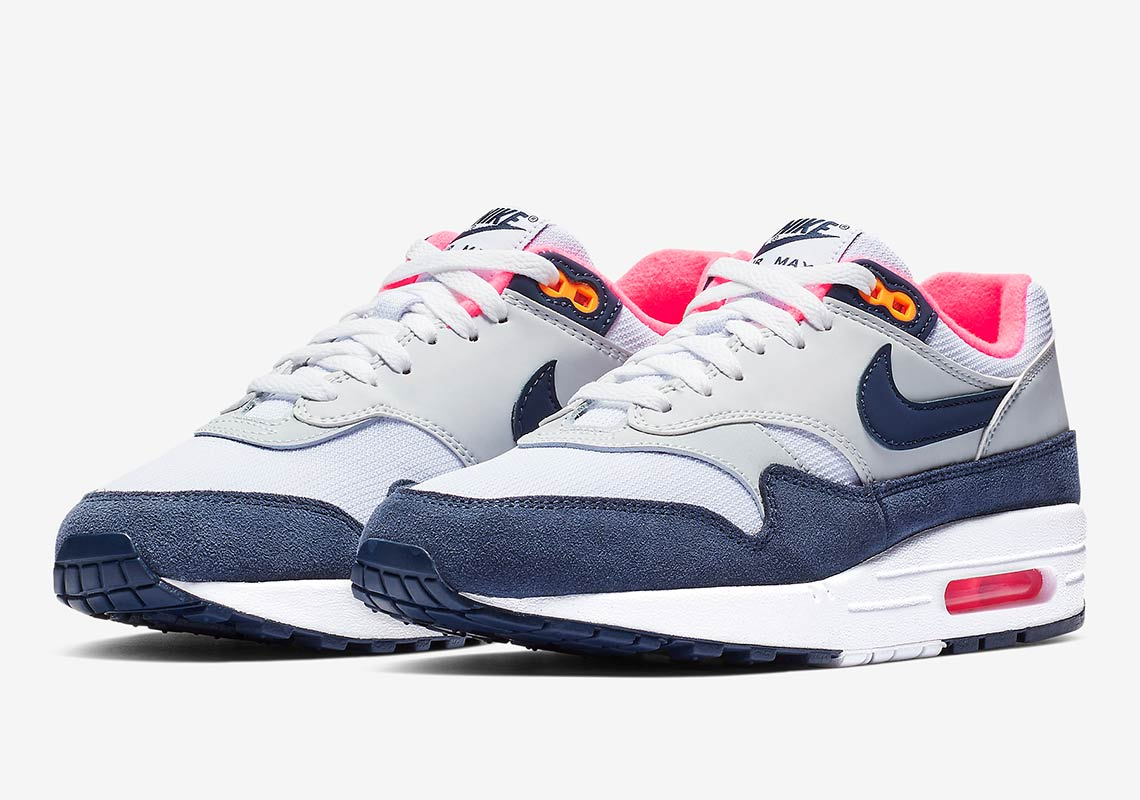 new arrival f2d18 a56e6 Nike Air Max 1 Grey + Midnight Navy First Look + Info   SneakerNews.com