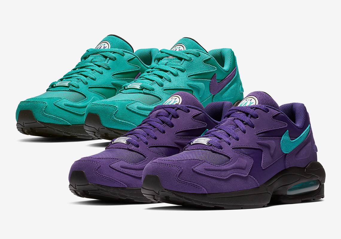 the nike air max 2 light is launching in 2 aqua styles supreme california. Black Bedroom Furniture Sets. Home Design Ideas