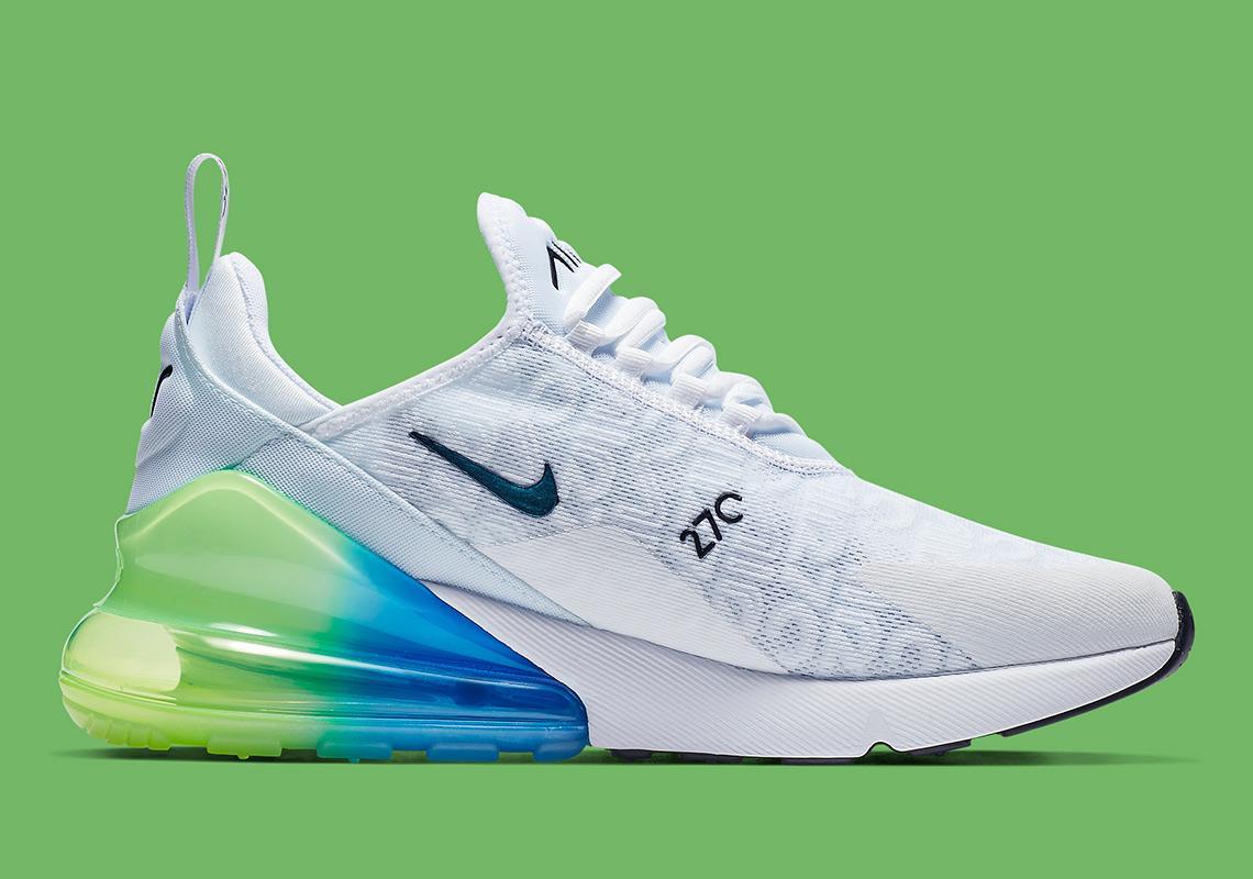 info for dcc9e 18960 Nike Air Max 270  150. Color  White Explosion Green-Yellow Style Code   AQ9164-100. Where to Buy. Nike Available. Advertisement