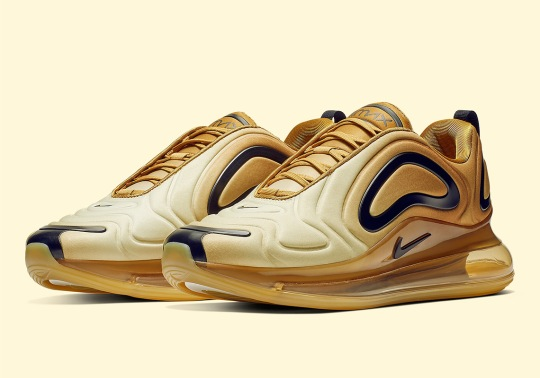 The Nike Air Max 720 Goes Full Gold