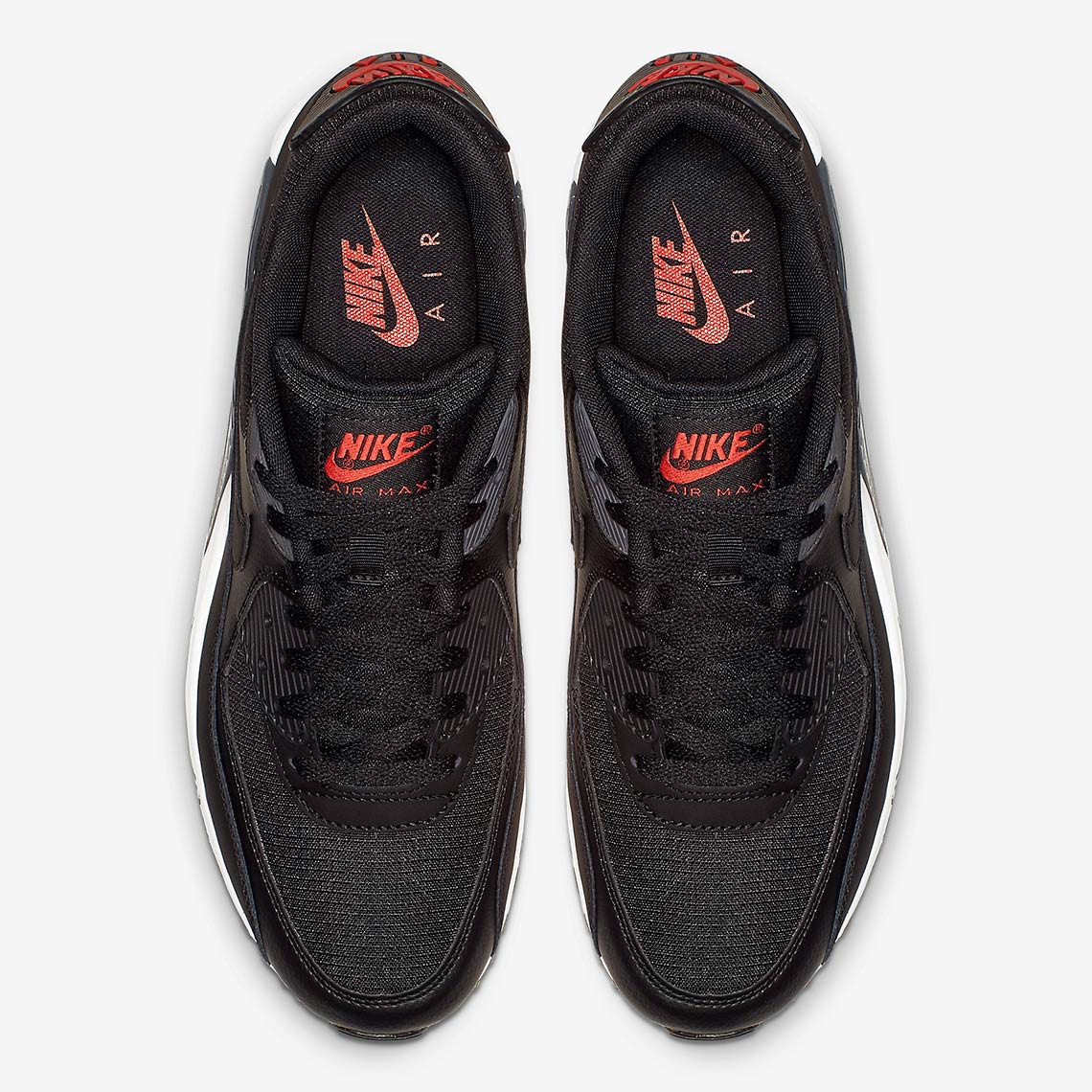 321cf6959b49c Nike Air Max 90 $110. Color: Black/Habanero Red-Black Style Code: CD1526-001