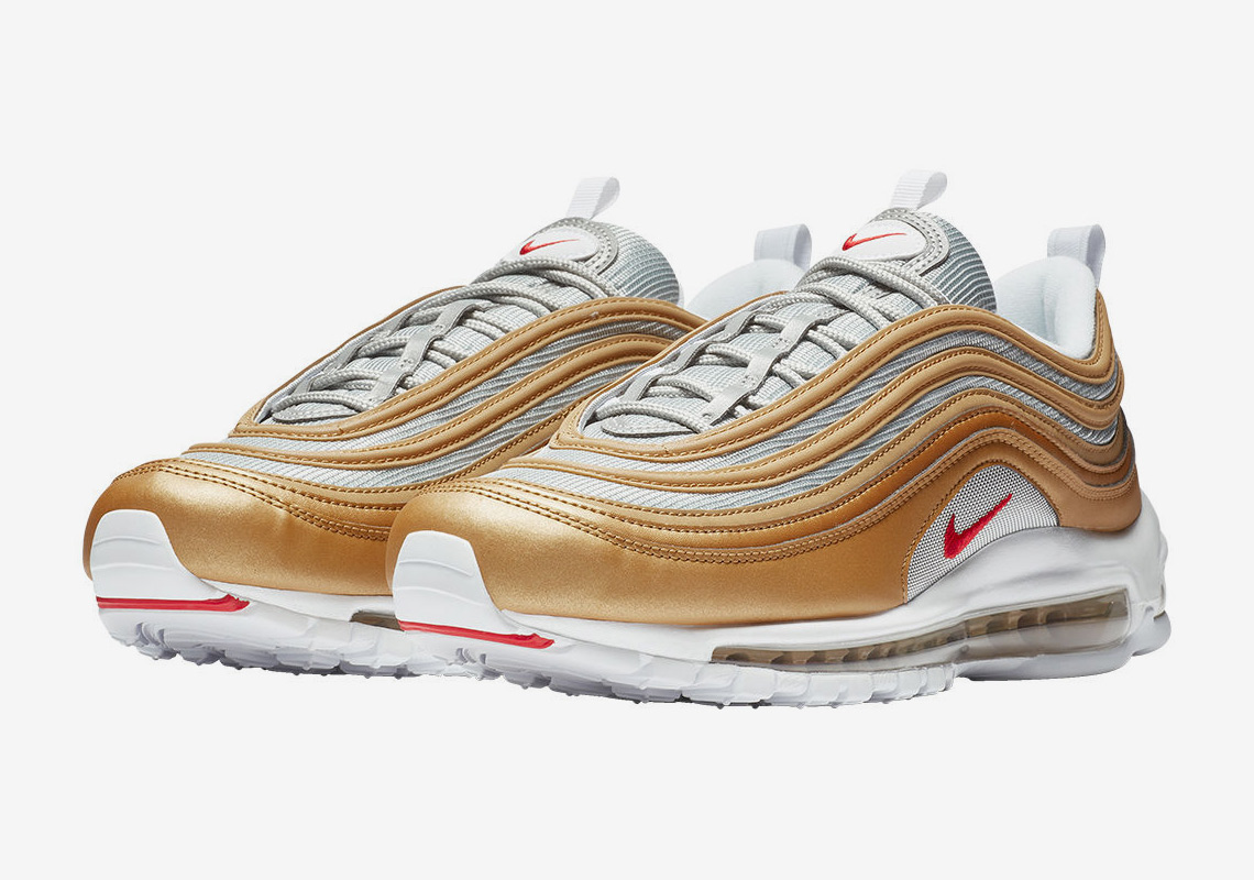 Nike Air Max 97 Gold + Red Release Info Store Links