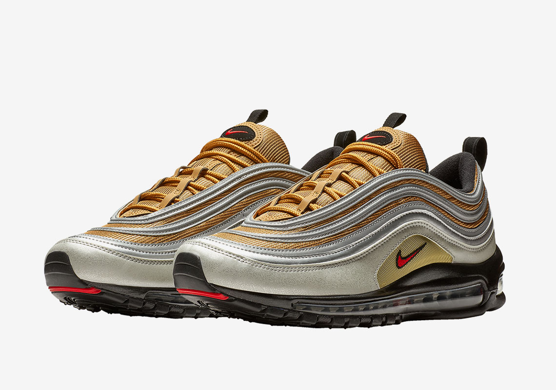 f4d42464314 Nike Expands The Metallic Pack With A Silver And Gold Air Max 97