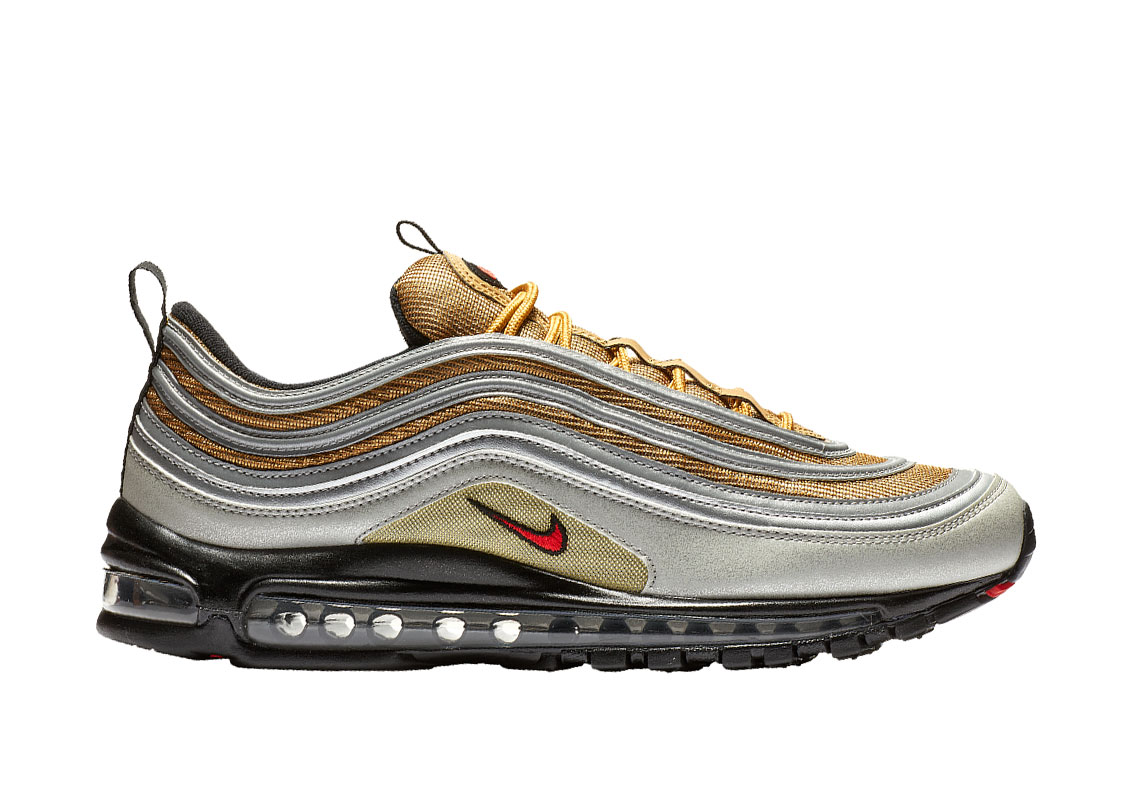 c42b3bea0865 Nike Air Max 97  180. Color  Metallic Silver University Red Metallic Gold  Style Code  BV0306-001