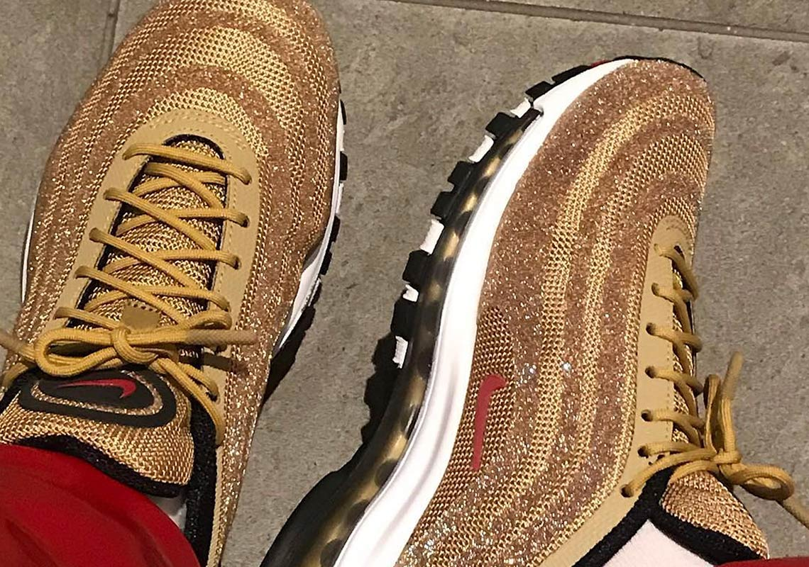 26cf54b72e69 Nike Is Releasing The Air Max 97 Swarovski In Metallic Gold