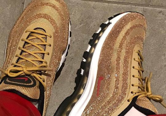 Nike Is Releasing The Air Max 97 Swarovski In Metallic Gold