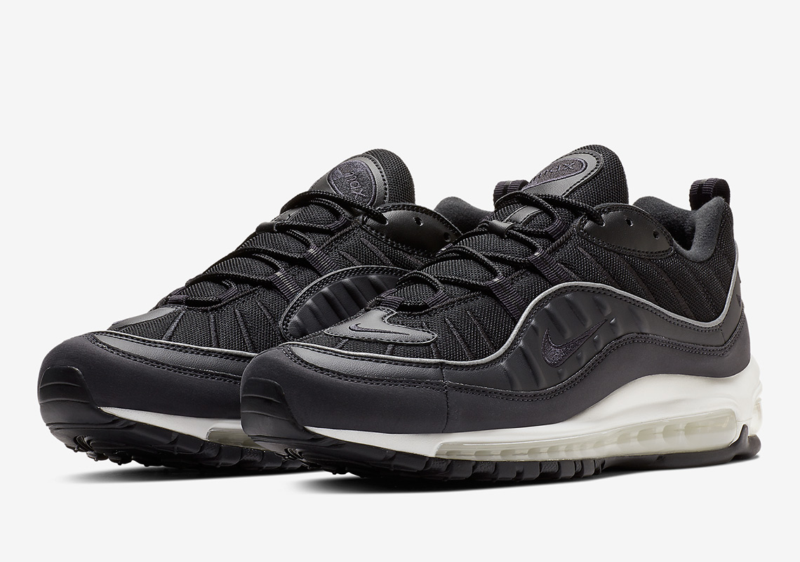 timeless design 14d61 37104 The Year Of The Air Max 98 Winds Down With Another Clean Black And White  Colorway