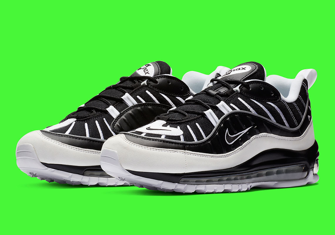 premium selection c9c43 88286 The Nike Air Max 98 Returns In A Contrasting White And Black